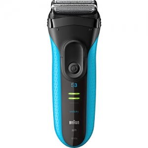 ihocon: Braun Electric Razor for Men/Electric Shaver, Series 3 ProSkin 3010s, Rechargeable, Wet & Dry, Blue