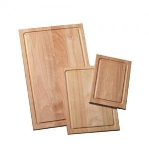 ihocon: Farberware 3-Piece Wood Cutting Board Set with Drip Groove 木製含滴水槽菜板 3個