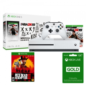 ihocon: Microsoft Xbox One S 1TB NBA 2K19 Console Bundle + Red Dead Redemption 2 for Xbox One + 3-Month Xbox Live Gold Membership