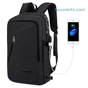 ihocon: YOREPEK Slim Laptop Backpack & Business Computer Bag with Headphone Port電腦背包
