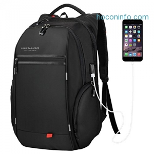 ihocon: LUXUR 37L Laptop Backpack USB Charging Port - 2色可選