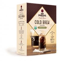 ihocon: Don Francisco's Organic Cold Brew Coffee, Premium 100% Arabica Beans, 4 Pitcher Packs 有機冷泡咖啡