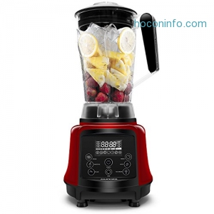 ihocon: ISUN 3-in-1 75-Oz. High Speed Programmed Blender with 6 Sharp Blades , Tamper & Recipe (Red)