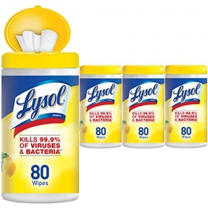 ihocon: Lysol Disinfecting Wipes, Lemon & Lime Blossom, 320ct (4x80ct) 消毒濕巾