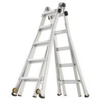 ihocon: Gorilla Ladders 22 ft. Reach MPX Aluminum Multi-Position Ladder with Wheels with 375 lbs. Load Capacity Type IAA Duty Rating
