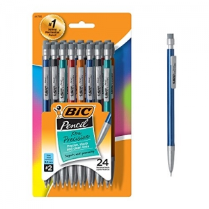 ihocon: BIC Xtra-Precision Mechanical Pencil, Metallic Barrel, Fine Point (0.5mm), 24枝自動鉛筆
