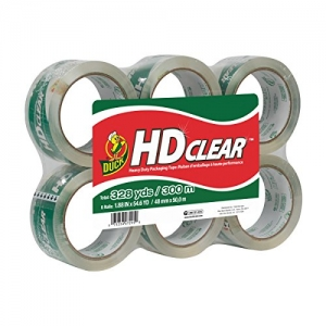 ihocon: Duck HD Clear Heavy Duty Packaging Tape Refill, 6 Rolls 透明包裝膠帶 6捲