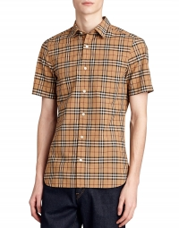 ihocon: Burberry Alexander Check Short-Sleeve Sport Shirt