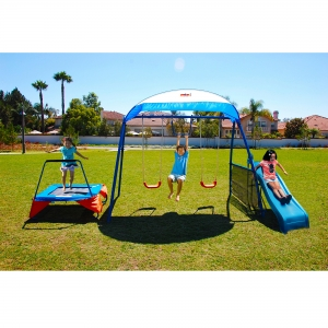 ihocon: IronKids Inspiration 250 Fitness Playground Metal Swing Set 兒童健身鞦韆組