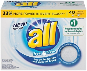 ihocon: all Powder Laundry Detergent, Free Clear for Sensitive Skin, 52 Ounces, 40 Loads洗衣粉