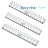 ihocon: 10  Closet Lights, MagicBuds Stick-on LED Motion Sensor Light with Magnetic Strip (3 Pack, Battery Operated)動作感應櫥櫃燈