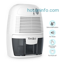 ihocon: Ymiko Small Electric Dehumidifier w/Auto Shut Off小型室內除濕機