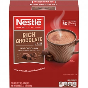 ihocon: Nestle Hot Chocolate Mix, Hot Cocoa, Rich Chocolate Flavor, Made with Real Cocoa, 0.71 oz Packets (Pack of 50) 雀巢熱可可, 50包