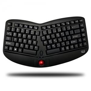 Adesso 無線人體工學鍵盤, 內建可拆軌跡球 $14.29免運(原價$69.95, 80% Off)