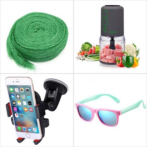 [Amazon折扣碼] 蔬果防鳥網, 迷你絞肉/切碎機, 汽車手機固定架, 兒童軟質Polarized偏光太陽眼鏡 額外折扣!