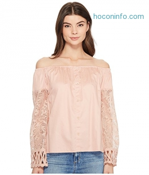 ihocon: ROMEO & JULIET COUTURE Off the Shoulder Lace Sleeve Blouse
