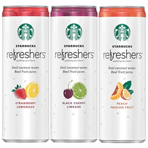 ihocon: Starbucks Refreshers Sparkling Juice Blends, 3 Flavor Variety Pack with Coconut Water, 12 Ounce, 12 Cans