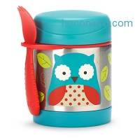 ihocon: Skip Hop Baby Zoo Little Kid and Toddler Insulated Food Jar and Spork Set, Multi, Otis Owl 真空保温便當