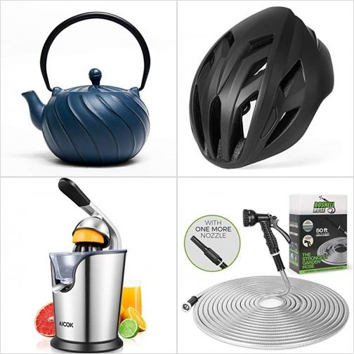 [Amazon折扣碼] 日式鑄鐵茶壺, 運動安全頭盔, 柳橙榨汁機, 不銹鋼澆花水管 額外折扣!