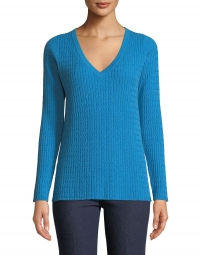 ihocon: Neiman Marcus Baby Cable V-Neck Cashmere Sweater