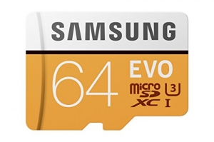 ihocon: Samsung 100MB/s (U3) MicroSD EVO Memory Card with Adapter 64 GB
