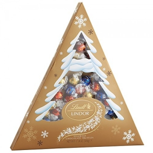 ihocon: Lindt LINDOR Holiday Tree Assorted Chocolate Truffles, Kosher, 17.8 Ounce Box