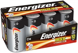 ihocon: Energizer D Cell Batteries, Max Alkaline D Battery Size, (8 Count)電池