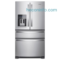 ihocon: Whirlpool 36 in. W 25.0 cu. ft. French Door Refrigerator in Fingerprint Resistant Stainless Steel