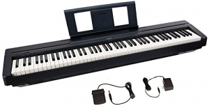 ihocon: Yamaha P45 88-Key Weighted Action Digital Piano with Sustain Pedal and Power Supply, Standard, Black 電鋼琴, 含延音踏板