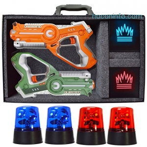 ihocon: DYNASTY TOYS Camping Games - Laser Tag - Capture the Flag Complete Set
