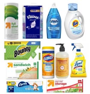 Target: Tide, Bounty, Clorox, Mrs. Meyer's, Lysol, Charmin..居家用品.. 買$50送$15 Gift Card或是買$75送$20 Gift Card