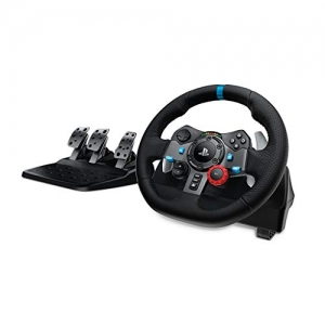 Logitech Dual-motor G29遊戲賽車方向盤+腳踏板(PlayStation 4/PlayStation 3) $198.46免運(原價$399.99, 50% Off)