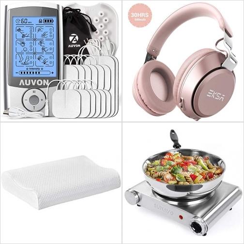[Amazon折扣碼] TENS低週波治療器/止痛儀, 藍芽無線耳機, 記憶棉枕頭, 小電爐 額外折扣!