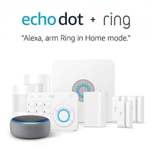 ihocon: Ring Alarm 8 Piece Kit + Echo Dot (3rd Gen), Works with Alexa