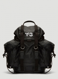 ihocon: Y-3 Large Backpack in Black