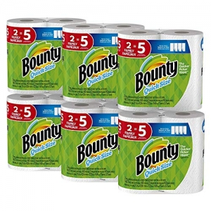 ihocon: Bounty Quick-Size Paper Towels, White, Family Rolls, 12 Count (Equal to 30 Regular Rolls)廚房紙巾