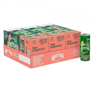 ihocon: Perrier Pink Grapefruit Flavored Carbonated Mineral Water,  8.45 fl oz. Slim Cans (30 Count) 粉紅葡萄柚味氣泡礦泉水