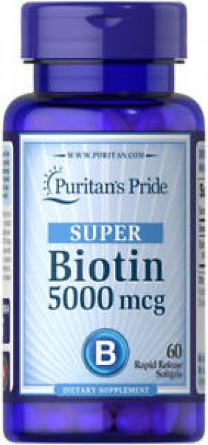 Puritan's Pride Biotin 5000 mcg, 60粒 $4免運(原價$7.99, 50% Off)