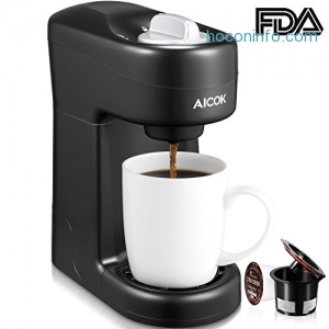 ihocon: Aicok Single Serve Coffee Maker for Most Single Cup Pods including K-CUP Pods膠囊咖啡機
