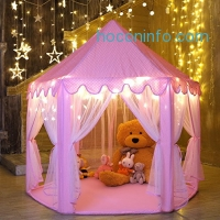 ihocon: Ejoyous Princess Castle Kids Play Tent With Star LED Lights