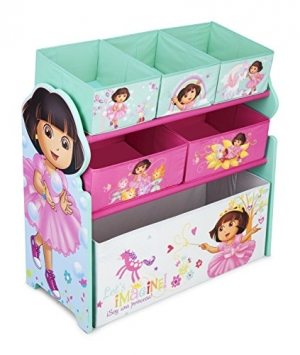 ihocon: Delta Children Multi-Bin Toy Organizer, Nick Jr. Dora The Explorer 兒童玩具收納架