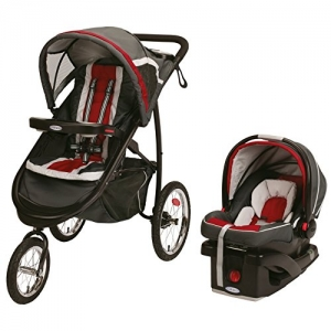 ihocon: Graco Fastaction Fold Jogger Click Connect Travel System, Chili Red (Open Box - Like New)