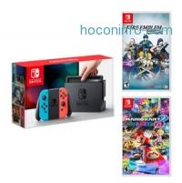 ihocon: Nintendo Switch Neon Blue&Red Joy-Con +Fire Emblem Warriors +Mario Kart 8 Deluxe