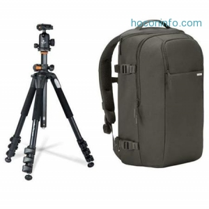 ihocon: Vanguard 264AB-100 4-section Aluminum Tripod BallHead Black W/Incase DSLR Case
