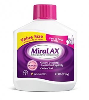 ihocon: MiraLAX Powder Laxative, Polyethylene Glycol 3350, 45 dose 緩解便秘