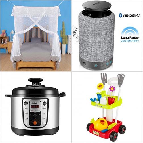 [Amazon折扣碼] 蚊帳, 藍芽Speaker, 多功能電子壓力鍋, 兒童園藝玩具 額外折扣!