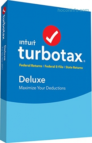 ihocon: TurboTax Deluxe Tax Software 2017 Fed + Efile + State PC/MAC Disc [Amazon Exclusive]