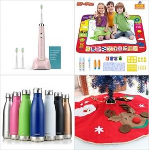 [Amazon折扣碼] 電動牙刷, 神奇水畫墊, 不銹鋼保温瓶, 聖誕樹裙 額外折扣!