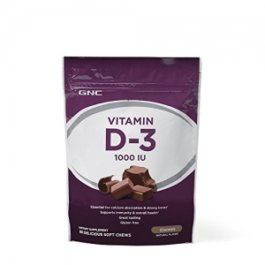 ihocon: GNC Vitamin D-3 1000 IU - Chocolate 維他命D-3巧克力