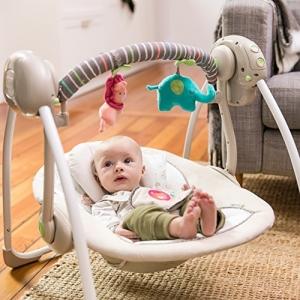 ihocon: Ingenuity Cozy Kingdom Portable Swing 嬰兒搖籃